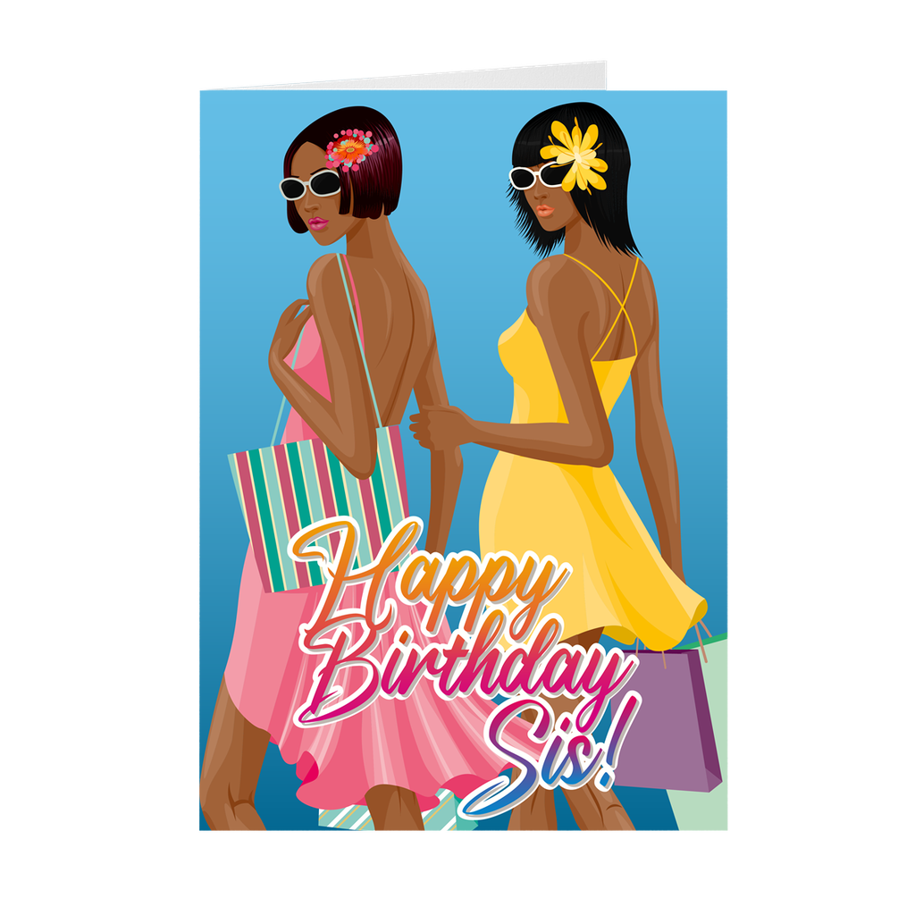 Sisters - African American Birthday Greeting Cards
