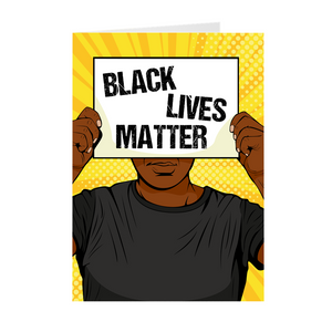 Make A Statement - African American Man - Black Lives Matter Greeting Card