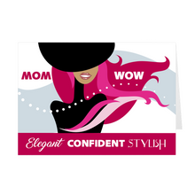 Load image into Gallery viewer, Red Elegant Confident Stylish - African American Woman - Mother's Day Card