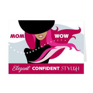 Red Elegant Confident Stylish - African American Woman - Mother's Day Card