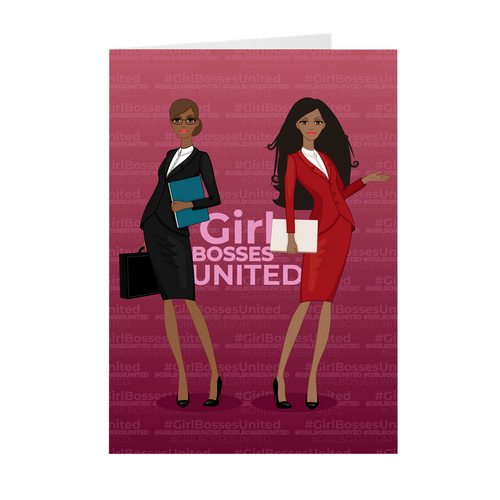 Girl Bosses United African American Greeting Cards