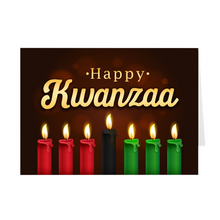 Load image into Gallery viewer, Red, Black & Green - Kwanzaa Candles Greeting Card