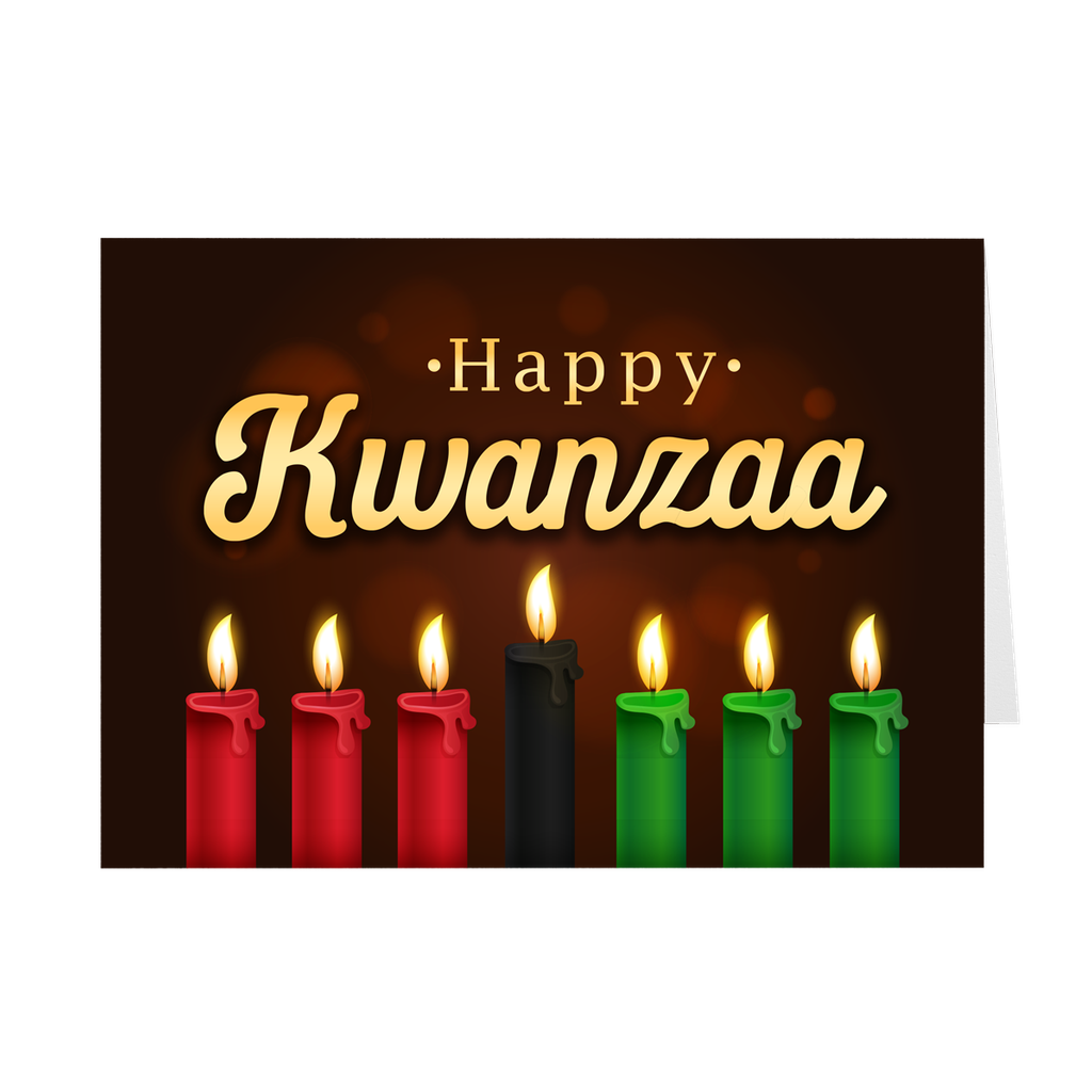 Red, Black & Green - Kwanzaa Candles Greeting Card