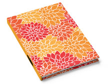 Load image into Gallery viewer, Floral Dreams - Red Orange Gold - Hardcover Journal