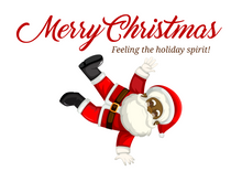 Load image into Gallery viewer, Breakdancing Santa Claus Christmas Greeting Card