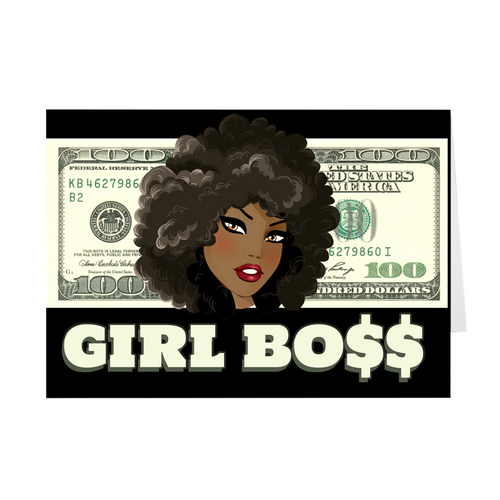 Girl BOSS - Money  - Girl BOSS Greeting Card