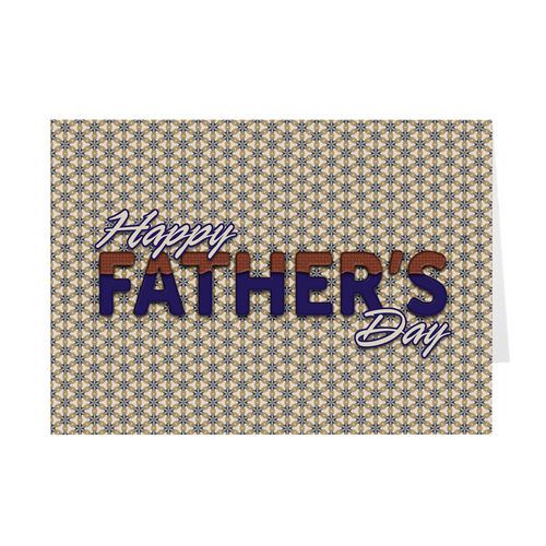 Happy Father's Day - Multi-Color Print - Father's Day Card