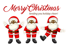 Load image into Gallery viewer, Sending Holiday Cheer - African American Santa Claus Christmas Greeting Card