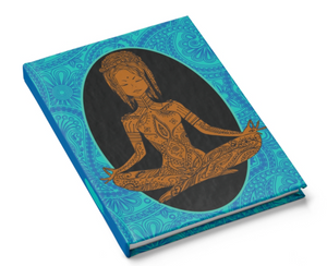 Calm - African-American Woman Meditating - Yoga Hardcover Journal