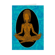 Load image into Gallery viewer, Calm - African-American Woman Meditating - Yoga - Blank Greeting Card