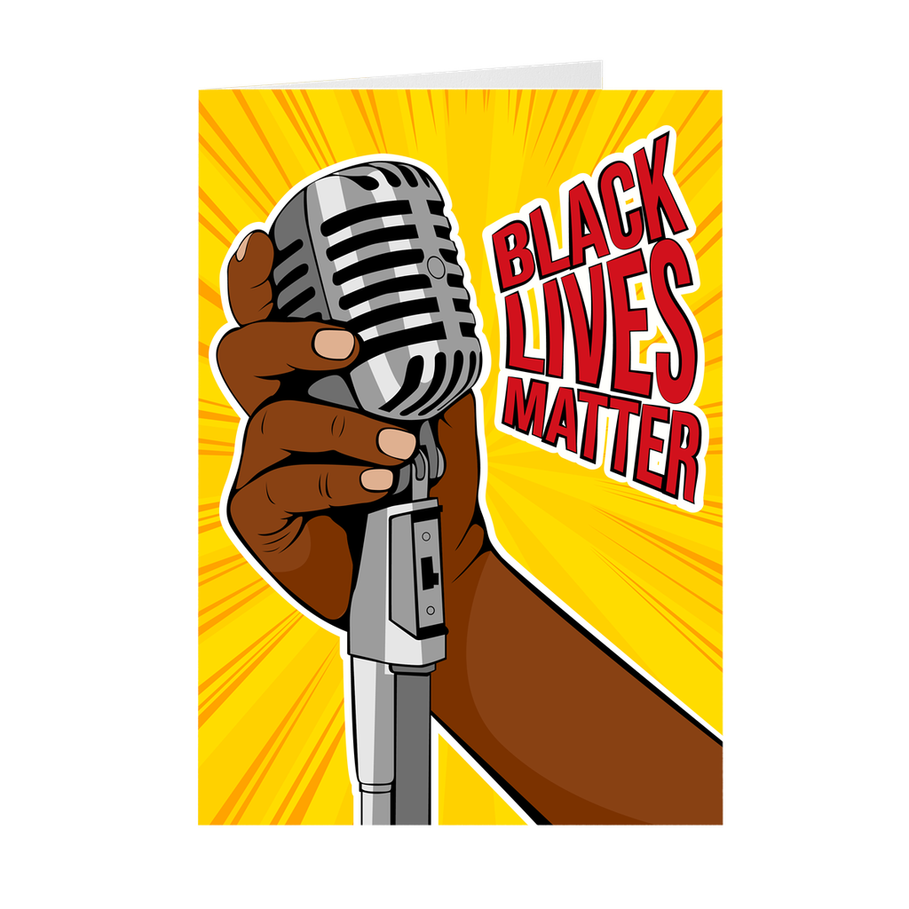 Black Lives Matter Microphone Greeting Card