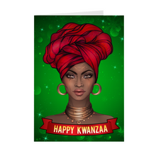 Load image into Gallery viewer, Turban - Happy Kwanzaa Greeting Card
