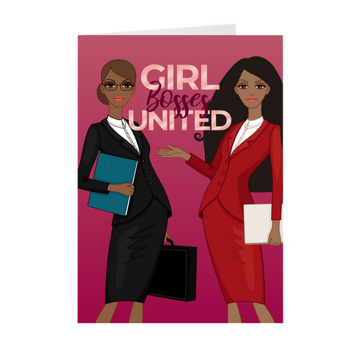 Girl Bosses United - African American Girl Boss Greeting Card