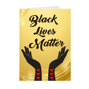 Hands And Heart - Radiating Love - Black Lives Matter Greeting Card