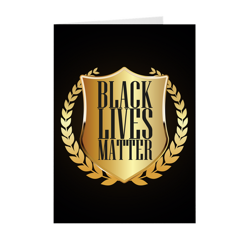Black & Gold - Black Lives Matter - African American Greeting Cards