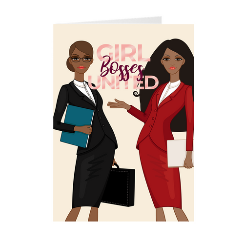 Girl Bosses United - Boss Mode - African American Girl Boss Greeting Card
