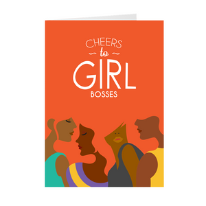 African American Women - Cheers To Girl Bosses Greeting Card