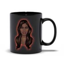 Load image into Gallery viewer, Black Magic African American Woman - Glow Girl - Black Mug