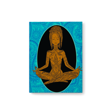 Load image into Gallery viewer, Calm - African-American Woman Meditating - Yoga Hardcover Journal