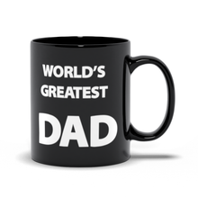 Load image into Gallery viewer, World's Greatest Dad - Hero & Awesome - Father's Day - Black Coffee Mug