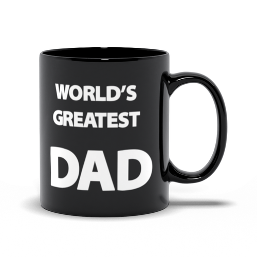 World's Greatest Dad - Hero & Awesome - Father's Day - Black Coffee Mug