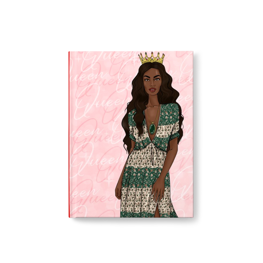 African American Fashionista Queen Lined Hardcover Journal