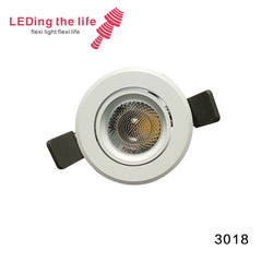 3018 Nebula 3W,6 degrees beam angle gimbal small led downlight for kitchen lighting from ledingthelife