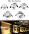 8338 The eye 7W led focus spotlight for showcase lighting,focusable 4 inch led downlight for above cabinet lighting