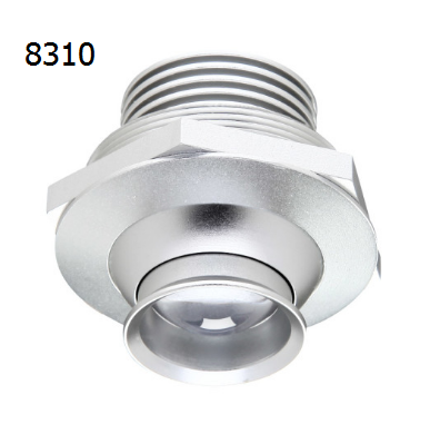 8310 The Eye 1w adjustable beam mini led downlight for showcase jewelry display