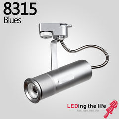 8315 Blue LED focus track spotlight for  Studio Office and leisure area lighting,18 degree to 65 degrees beam angle