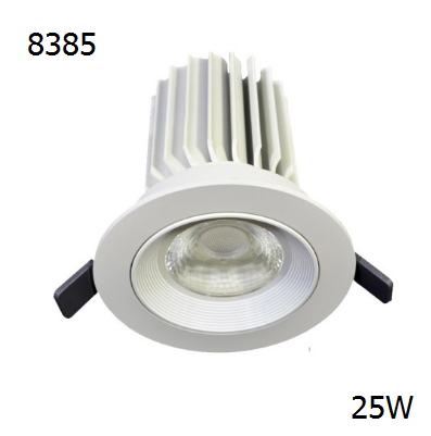 8385 Nebula 25w  adjustable gimbal led downlight for commercial
