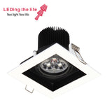 8501  7w 10x10cm led Grille lamp focusable zoomable  recessed light for western food restaurant