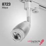 8723D Maya 3W led focus track light,6.5-18degrees beam angle for museum lighting,TRIAC dimmable version 110V/220V