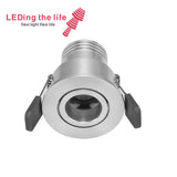 9077 1w fixed focus led lamps led recessed down light for garage lighting  8 degrees beam angle 42mm