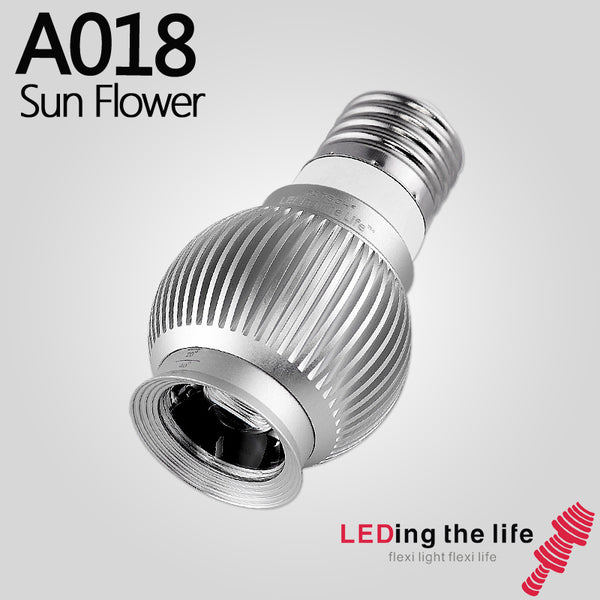 A018 Sun Flower E27 LED focusable spotlight for coffee bar lighting or dining bar