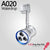 A020 Waterdrop LED track focus spotlight for Art Gallery lighting