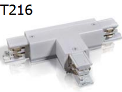 T216 T-CON T Type connector for 2/3/4 wires track
