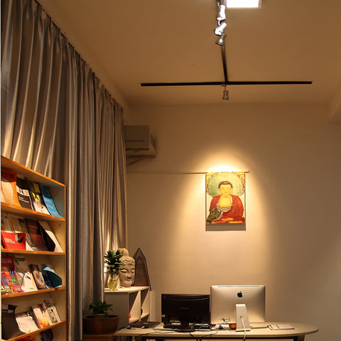 a020 waterdrop led track focus spotlight for art gallery