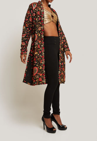 VERSATILE AND CHIC BLACK EMBROIDERED JACKET