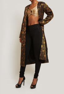 VERSATILE AND CHIC BLACK BROCADE JACKET