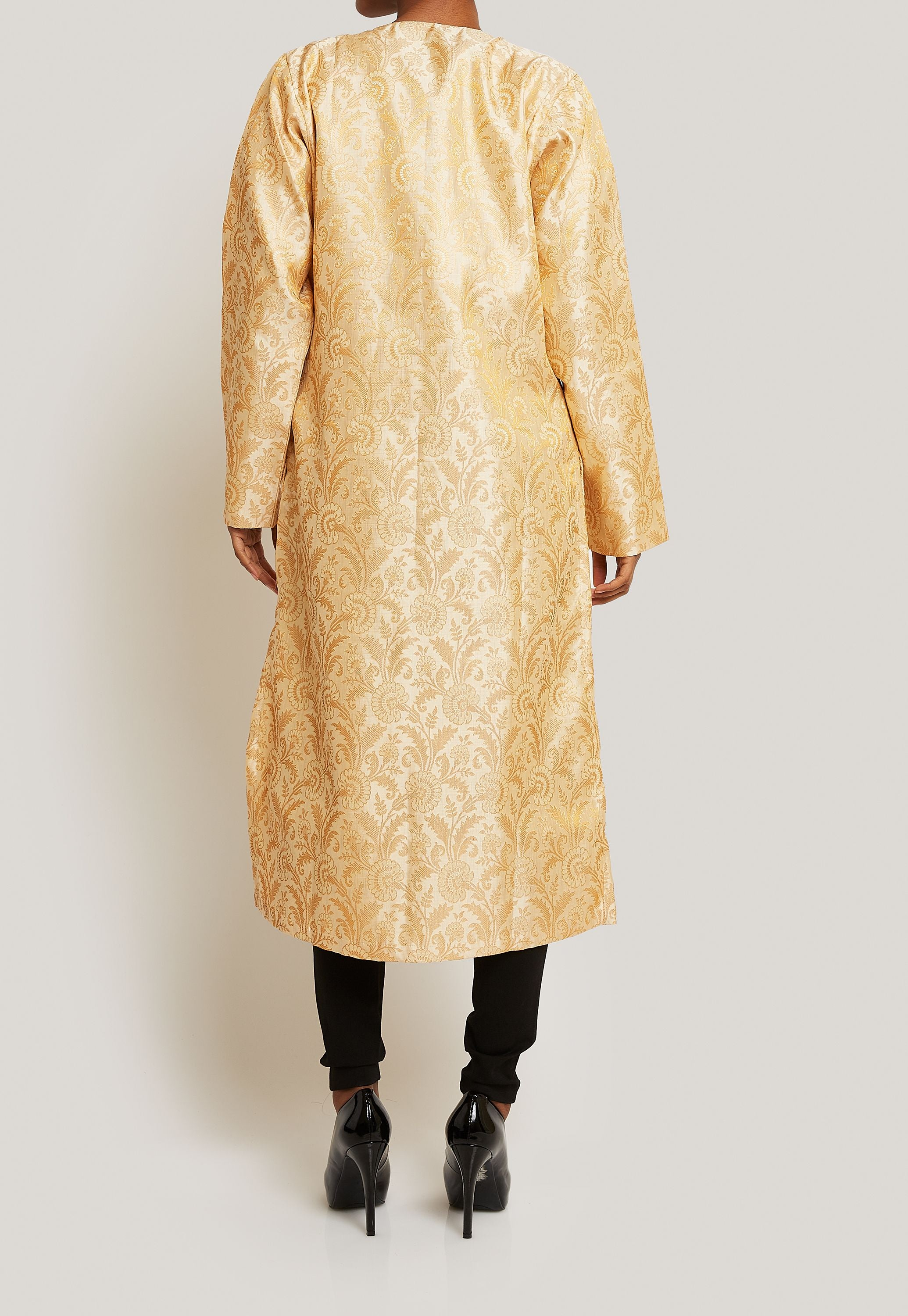 GOLD VERSATILE AND CHIC BROCADE JACKET
