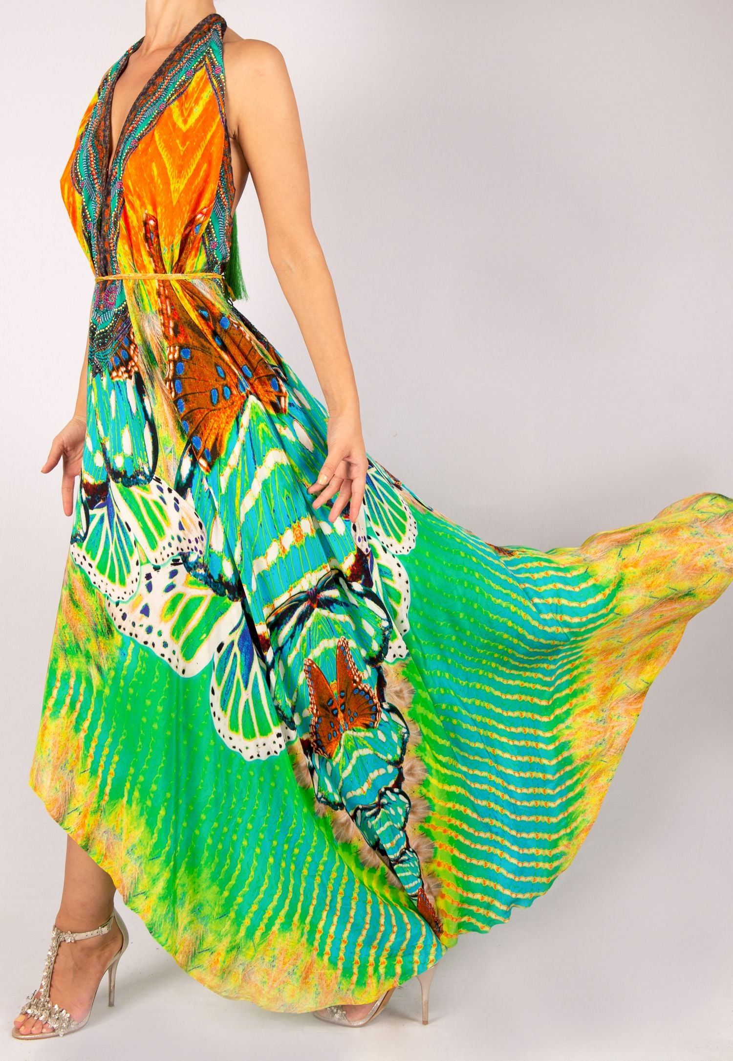 SHAHIDA PARIDES CONVERTIBLE BUTTERFLY MAXI DRESS RESORTWEAR