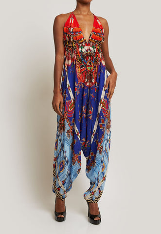 SHAHIDA PARIDES BLUE JUMPSUIT