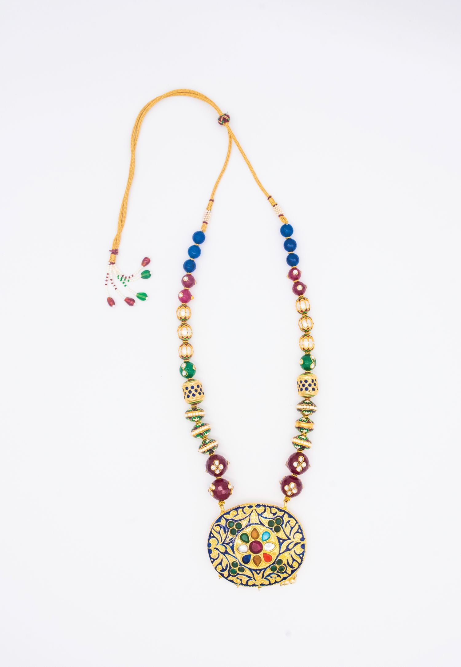 MULTICOLOR FACETED BEAD NECKLACE