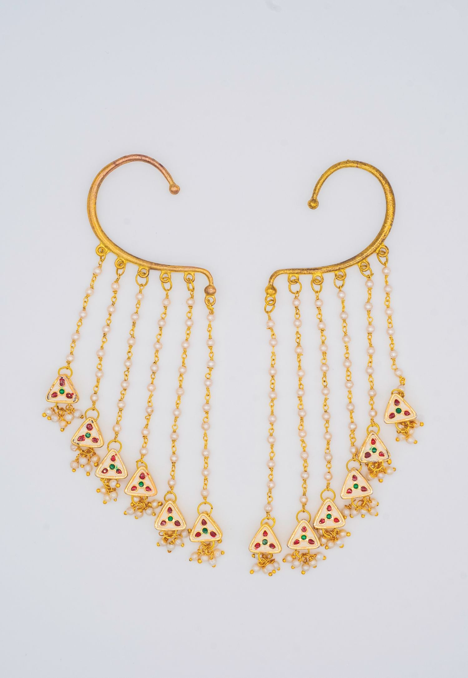 OVER THE LOBE GOLD EARRINGS