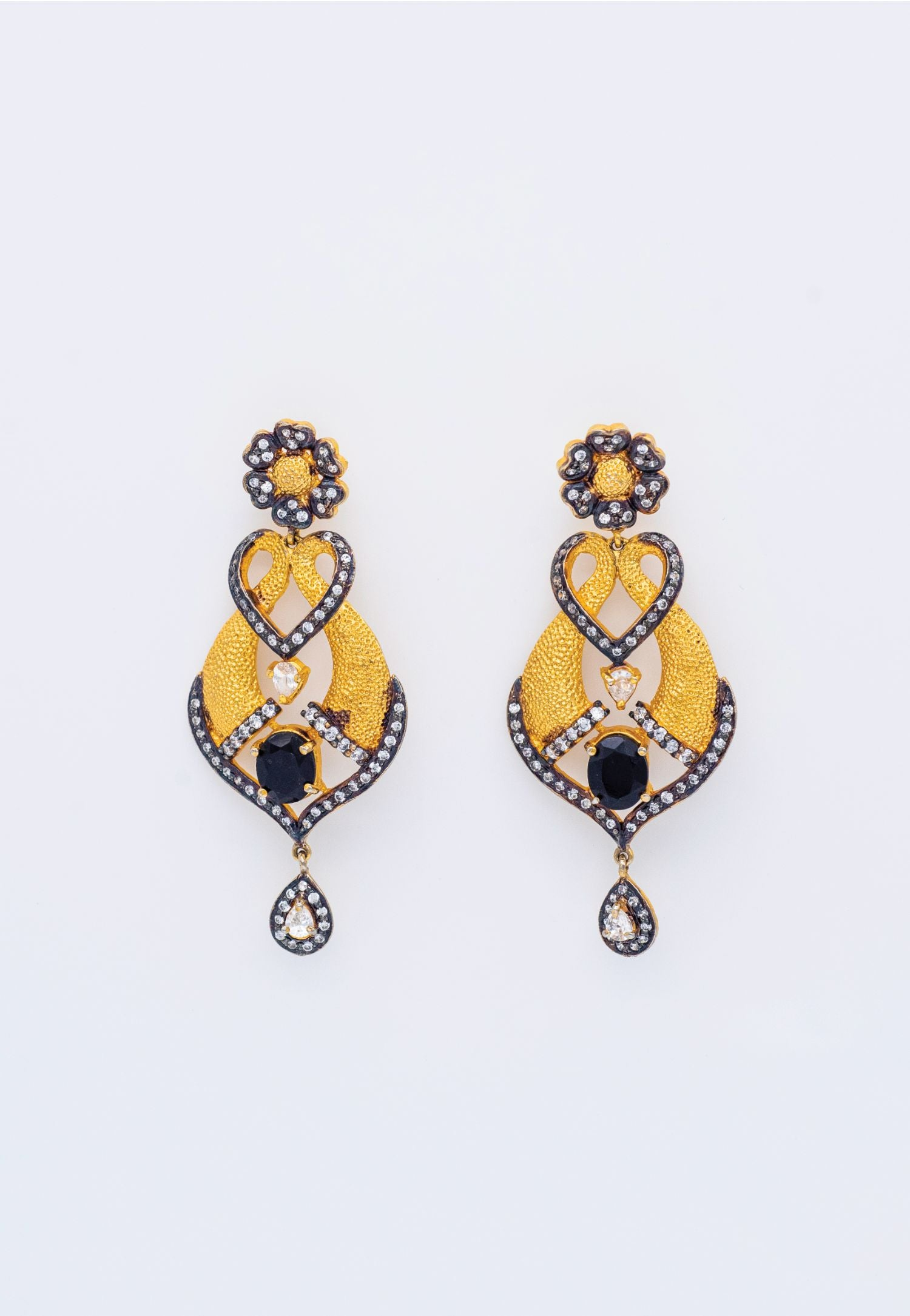MARCASITE AND GOLD EARRINGS