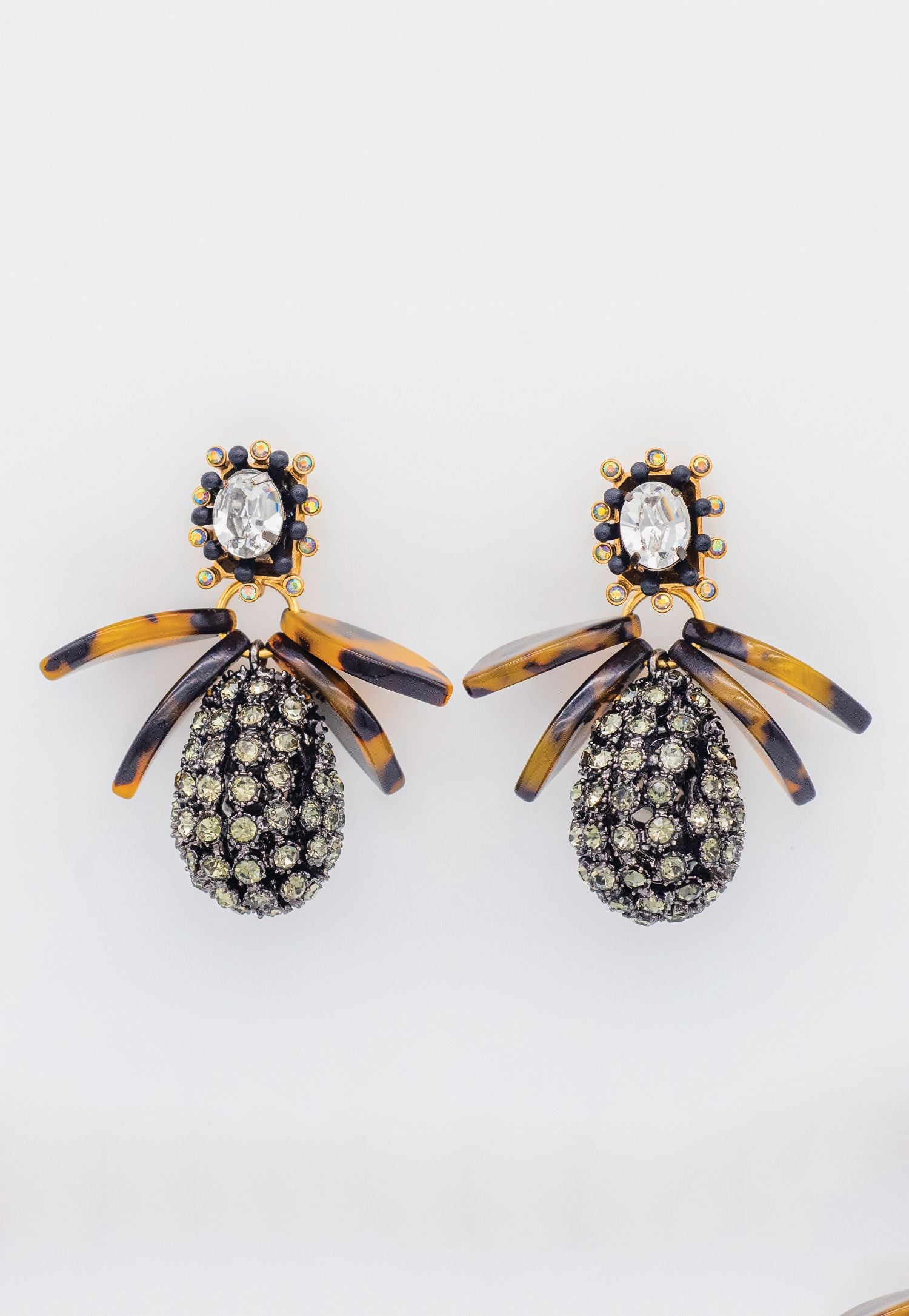 MARCASITE AND BROWN OMBRE EARRINGS