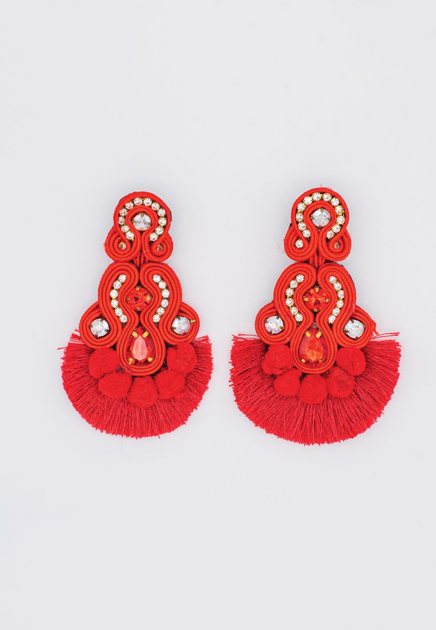 RED TASSLE EARRINGS
