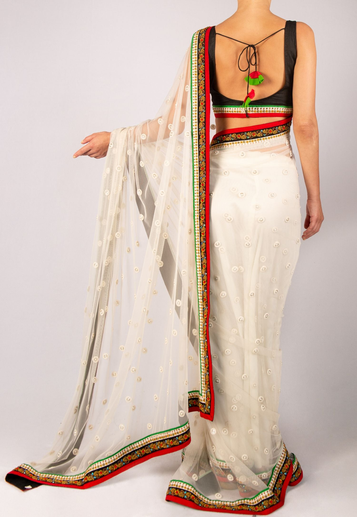 SABYASACHI WHITE SAREE
