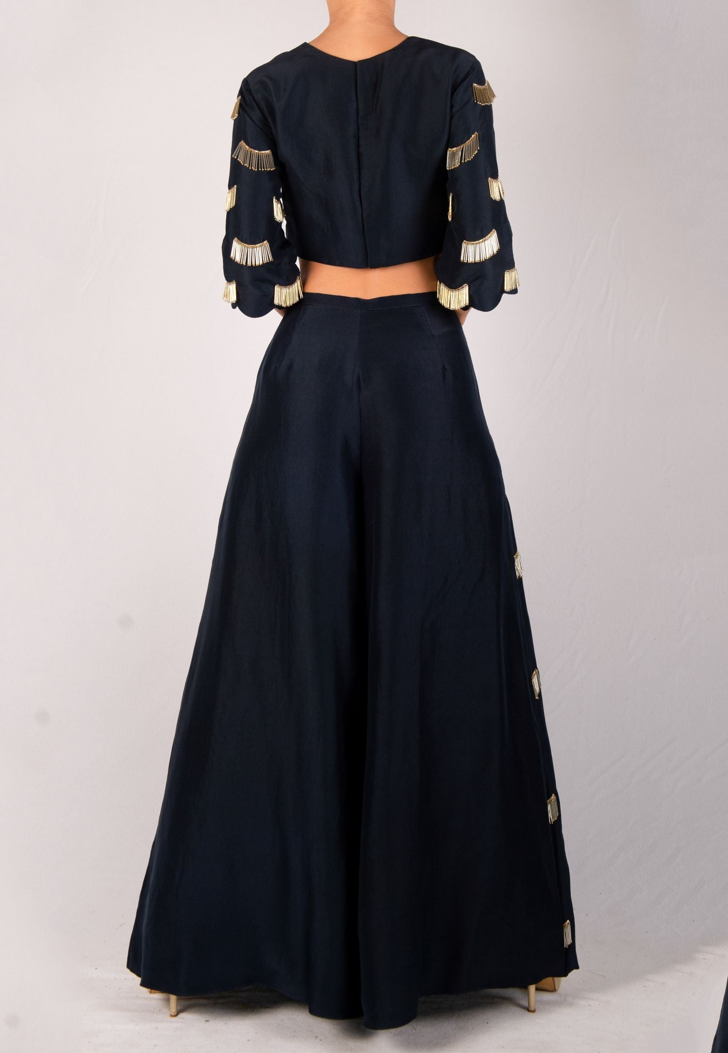 PAYAL SINGHAL EDGY TOP AND PALAZZO ENSEMBLE
